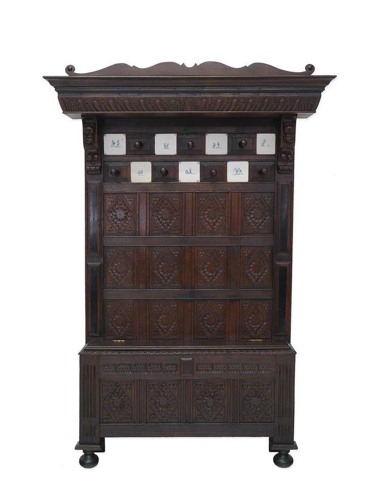 Garderobe Wandgarderobe Flurgarderobe Dielenmöbel Antik um 1880 Eiche (5578) in Antiquitäten & Kunst, Mobiliar & Interieur, Mobiliar vor 1900 | eBay!