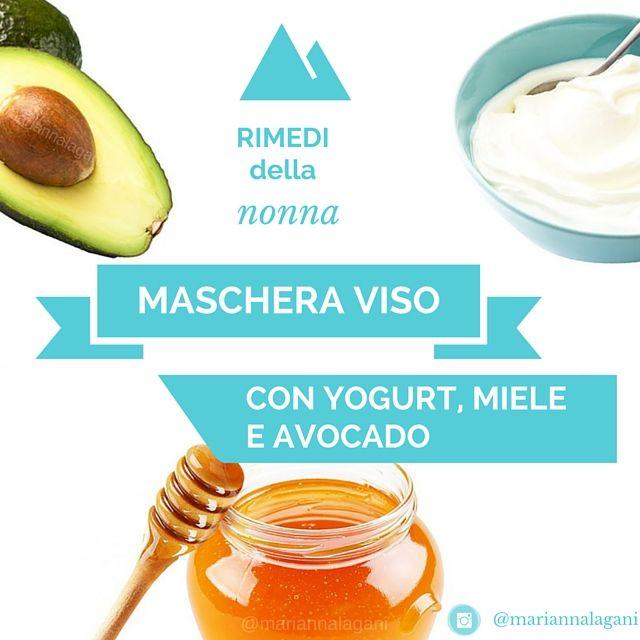 Maschera viso yogurt miele e avocado
