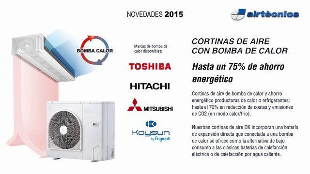 Vídeo que presenta las novedades 2015 de Airtècnics en Cortinas de aire decorativas, industriales y con bomba de calor, así como también en Aerotermos.  Conoce más en: www.airtecnics.com / www.cortinasdeaire.com