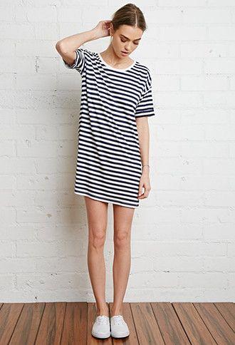 Striped T-Shirt Dress   Forever 21 - 2000116518