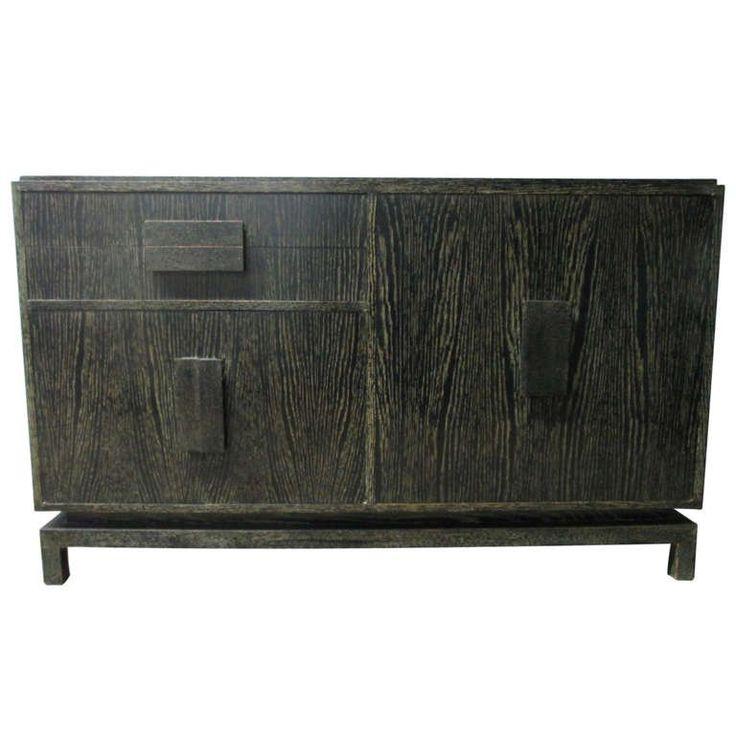 Cerused Oak Sideboard in the Manner of Jean Michel Frank 1