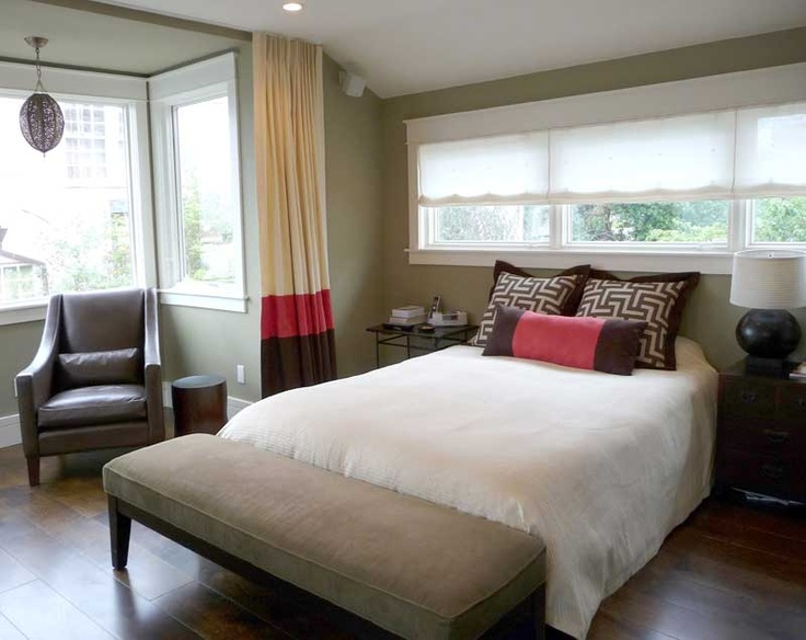 Custom Made Curtains, Bedding And Sheer Roman Shade Coordinated A Modern  Sea Cliff, San