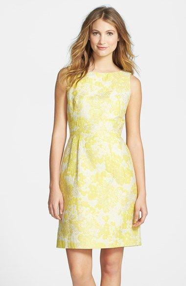 Yellow Brocade Dress