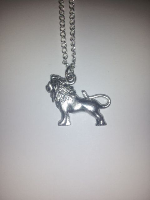 A Fierce Silver lion on a 20 inch silver chain!     Show your Gryffindor Pride!    Homemade!