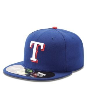 New Era Mlb Hat, Texas Rangers On-Field 59FIFTY Fitted Baseball Cap - Blue 7 5/8
