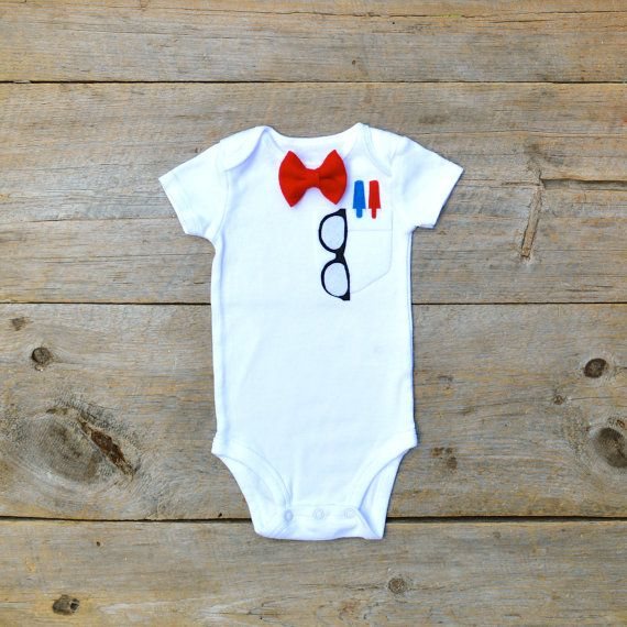 The Über Geek Baby onesie by The Wishing Elephant on Etsy, $22.