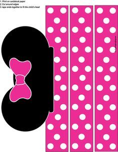 Minnie Party Hat, Mickey Mouse, Party Hats - Free Printable Ideas from Family Shoppingbag.com