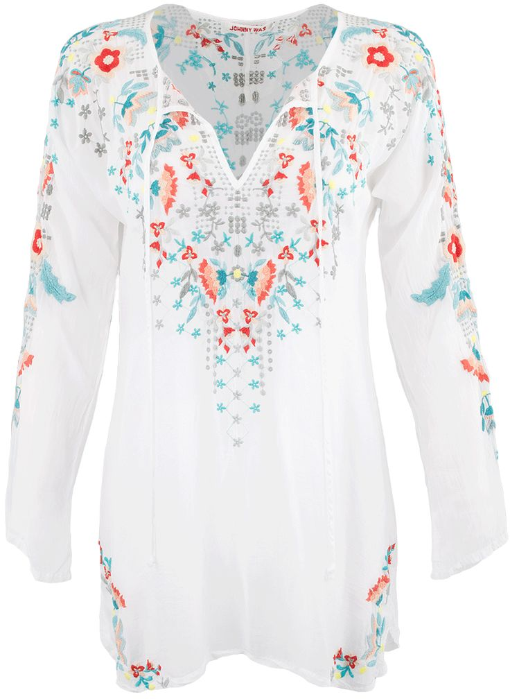 Johnny Was Julie Sunrise Blouse