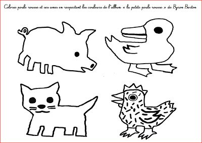 """La petite école dans la prairie : la maternelle de Naternelle TPS PS MS: Coloriage """"la petite poule rousse"""""""