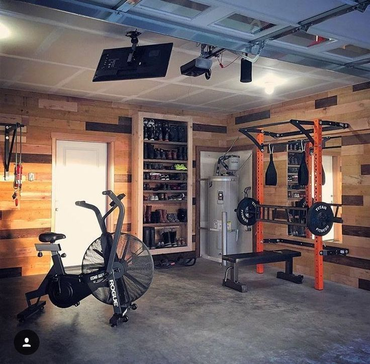 The happy place is your happy place a home gym garage gym