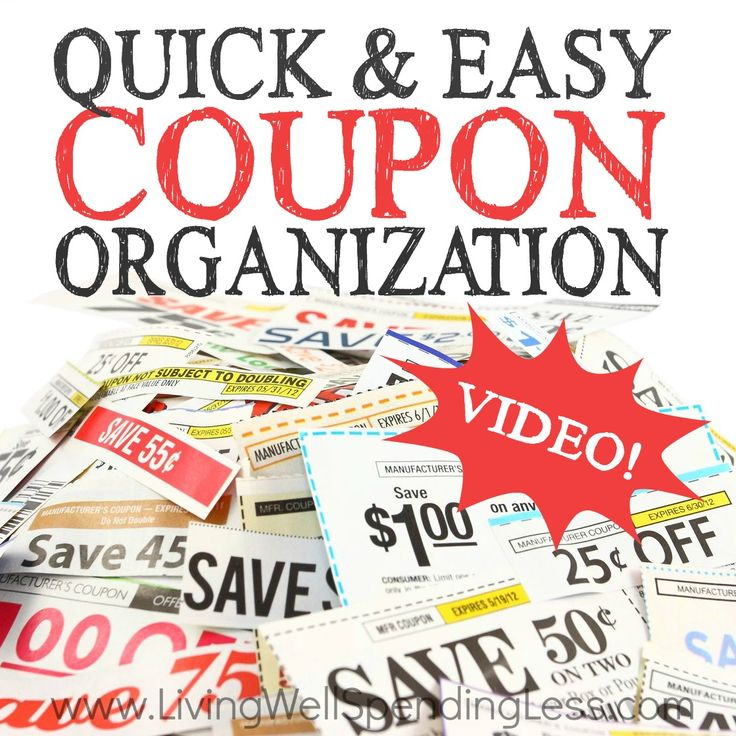 Quick and Easy Coupon Organization