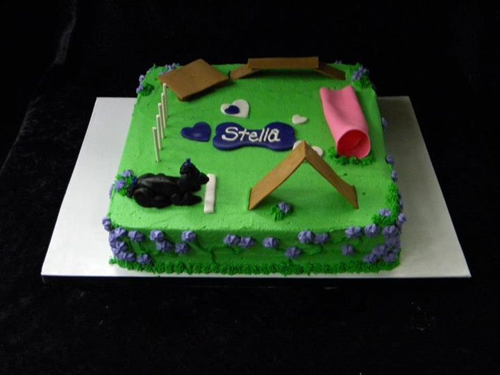 Dog Agility Cake Decorations : 11 best Agility Theme Cakes images on Pinterest Theme ...