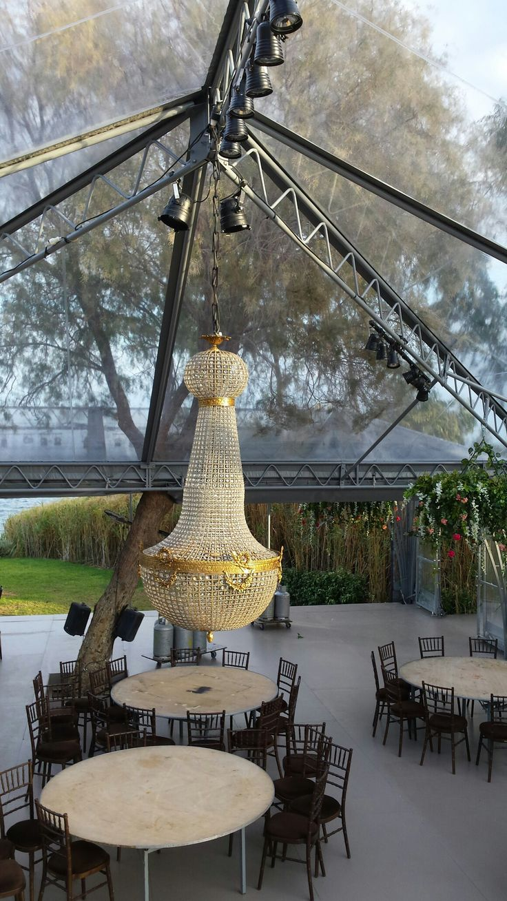 island wedding alice chandelier