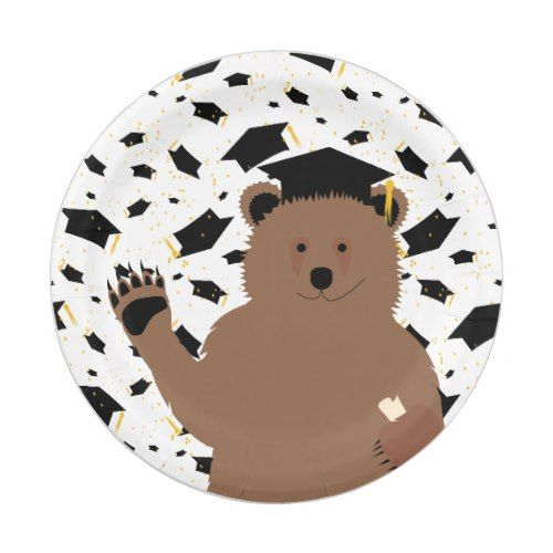 Graduation Bear, Celebration - Paper Plate