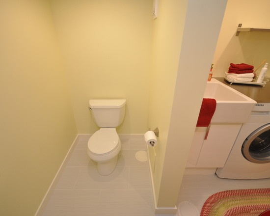 Laundry room idea separate toilet design pictures for Washroom designs small space