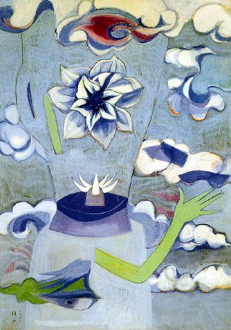 (Korea) The Beauty of Suicides,1968 by Chun Kyung-ja (1924-2015). 천경자. 자살의 미.