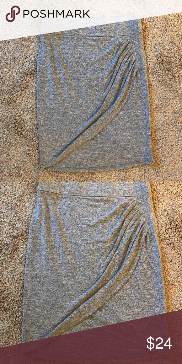 GAP softspun knit tulip skirt Soft cotton, stretch tulip hem skirt.  Elastic waistband.  Excellent condition GAP Skirts Midi