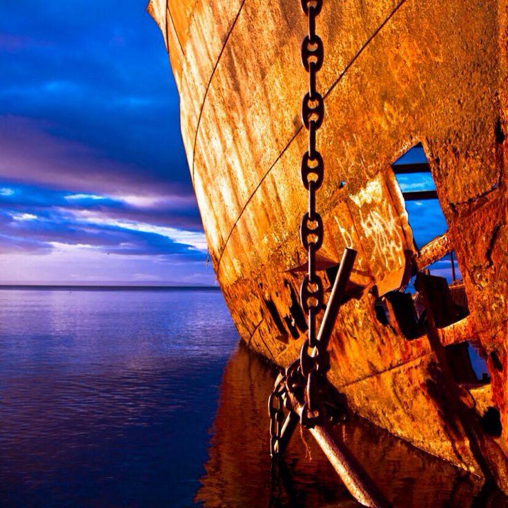 Rusty boat, Punta Arenas, Chile.