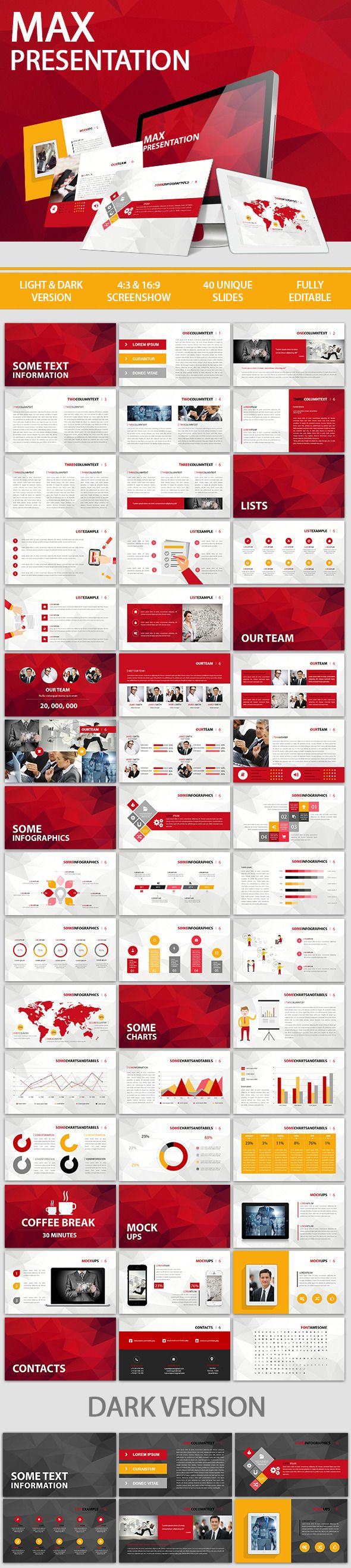 Max Presentation Template #powerpoint #powerpointtemplate Download: http://graphicriver.net/item/max-presentation/10447088?ref=ksioks