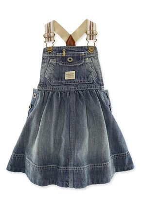 The Denim Overall Dress: Has Ralph Lauren Started a New Trend For Girls? | Child Mode