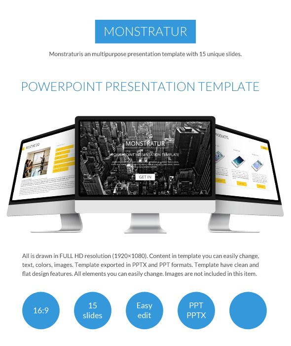 Monstratur Business Power Point Presentation - Business PowerPoint Templates