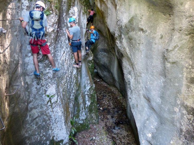 Klettersteige am Gardasee: An heißen Tagen: Ferrata Torrente Rio Sallagoni