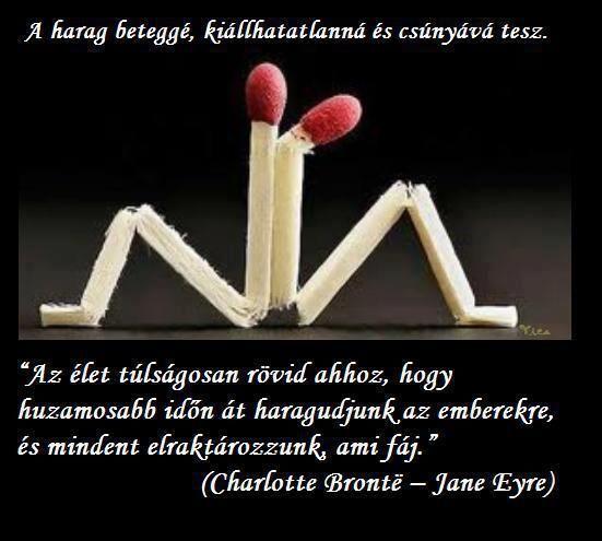 Charlotte Brontë idézete a haragról. A kép forrása: Mondd, hogy szeresselek? # Facebook