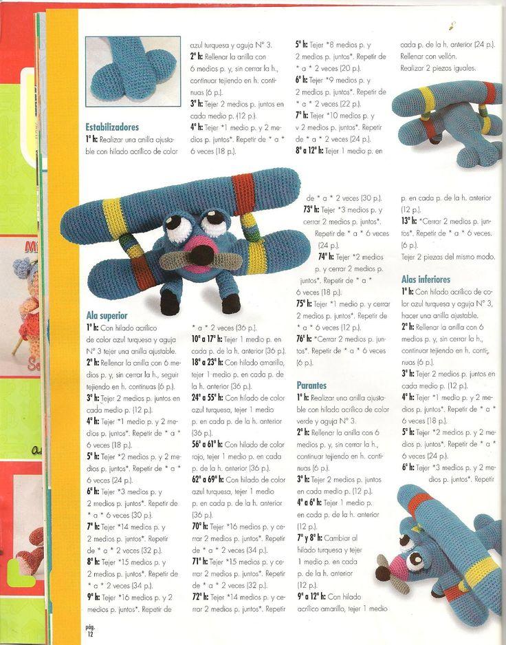 Página 3 Patrón gratis en español. Avioncito viajero.