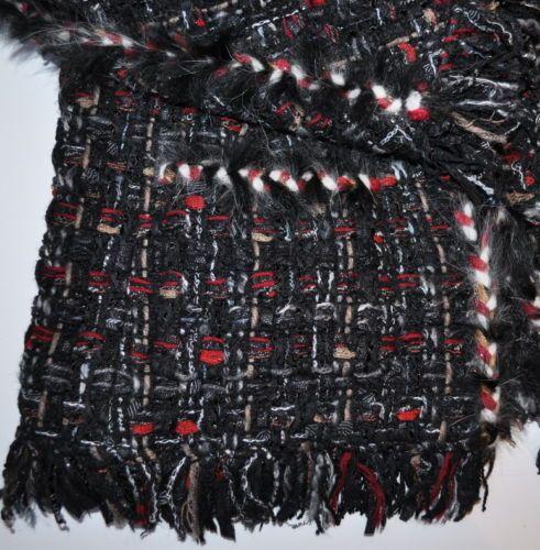 Chanel 10A $6 8K Lesage Fantasy Tweed Fringed Fur Trimmed Suit Jacket 40 New | eBay