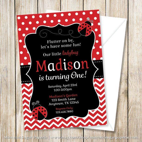 Best 25 Ladybug invitations ideas – Ladybug Party Invitations