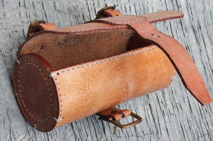 Handmade Bicycle Leather Tool Bag Saddle Bag Seat Bag mxs Thick Natural VEG Tan | eBay-SR