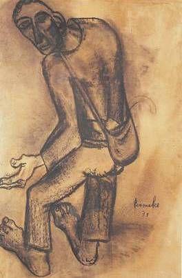 """No doubt the most powerful expressionist ever... """"De bedelaar"""" van Constant Permeke"""
