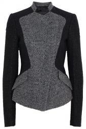 Collarless Tweed Blazer by ELIE SAAB