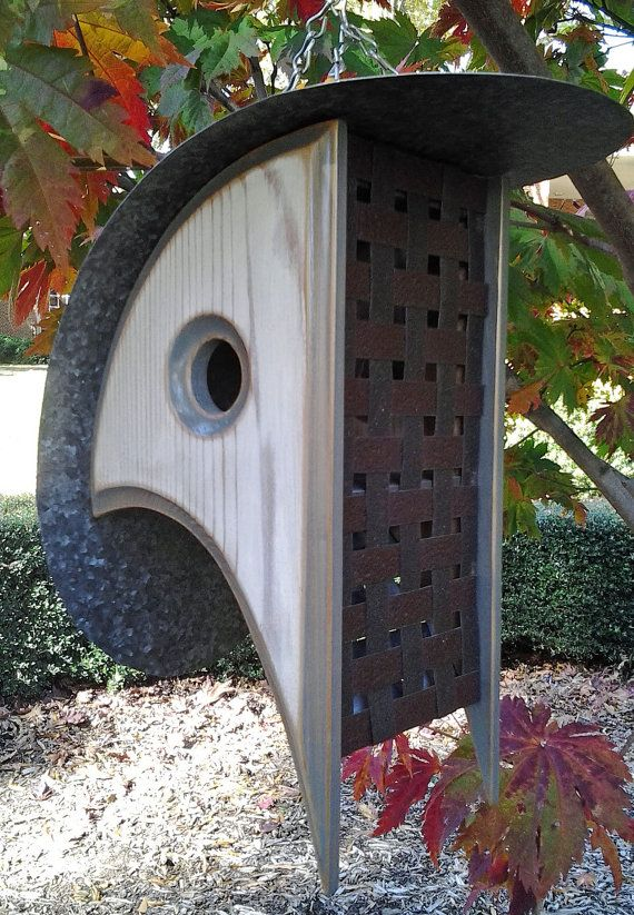 MODERN BIRDHOUSE  The COOP DeVille of Birdhouses by MikeMerrittArt on etsy.com $125.00 Great gift for M&D