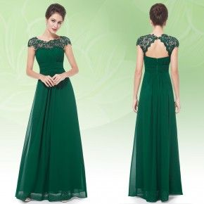 Zelené elegantní společenské šaty