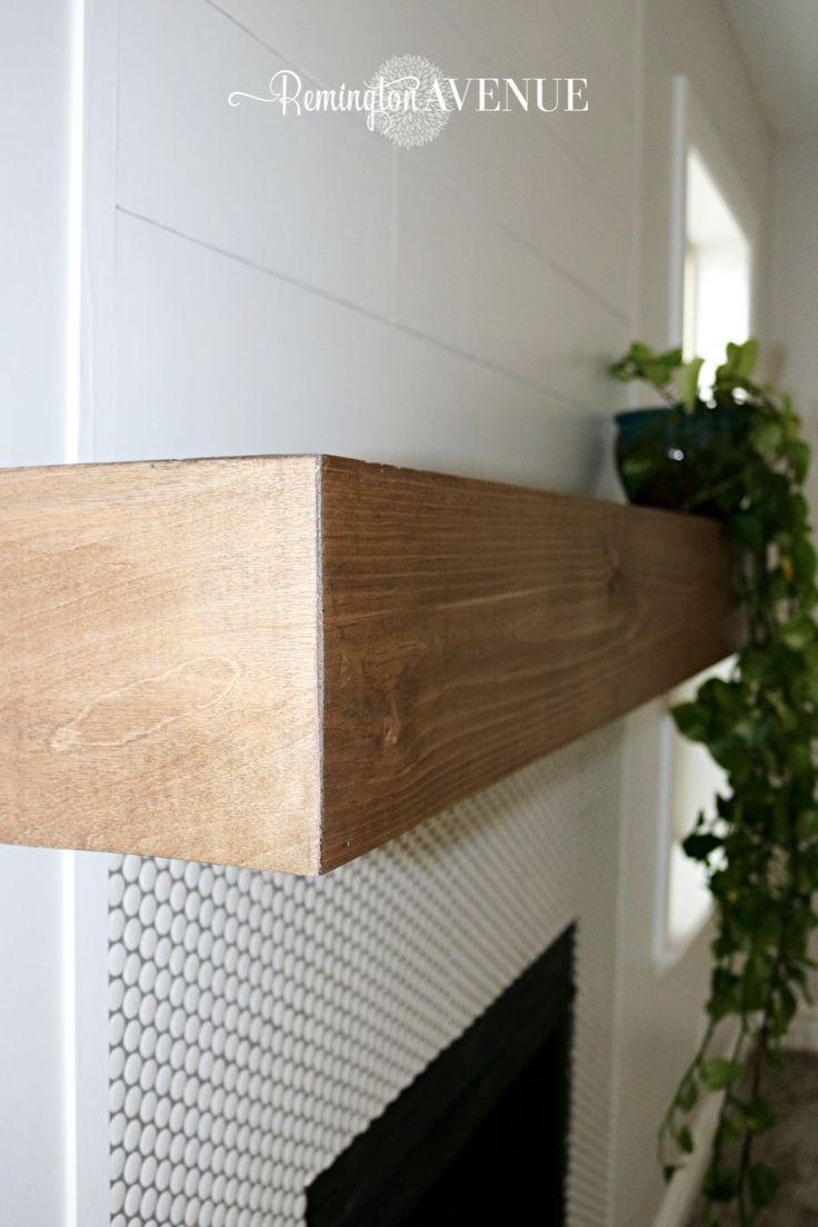 floating shelf, wood mantel