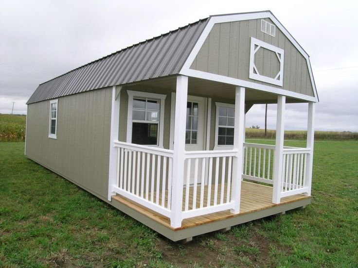 Amish built portable garage shed cabin barn tiny house no for Barn home builders indiana