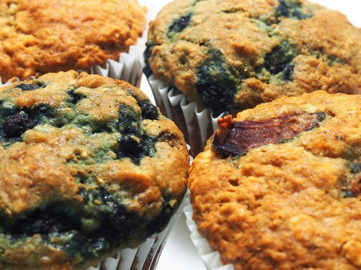 Muffins à l'avoine et aux fruits