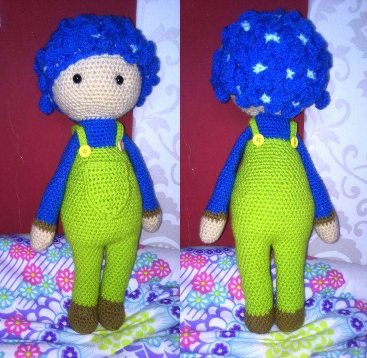 Hydrangea Hank flower doll made by Renata O - crochet pattern by Zabbez