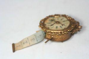 Antique Brass Celluloid Fancy Clock Tape Measure Figural | eBay
