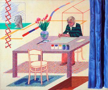 "David Hockney ""Self-Portrait With Blue Guitar"" 1977"