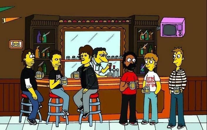 Ciro y Los Persas en el bar de Moe!