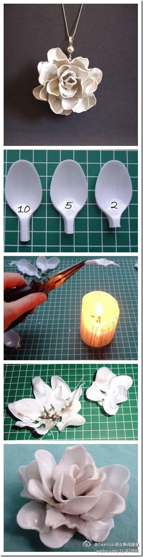 DIY: Plastik kaşıktan çiçek!