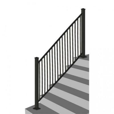 Best Rdi 8 Ft X 34 In Black Square Baluster Stair Rail Panel Mwes8 36B At The Home Depot House 400 x 300