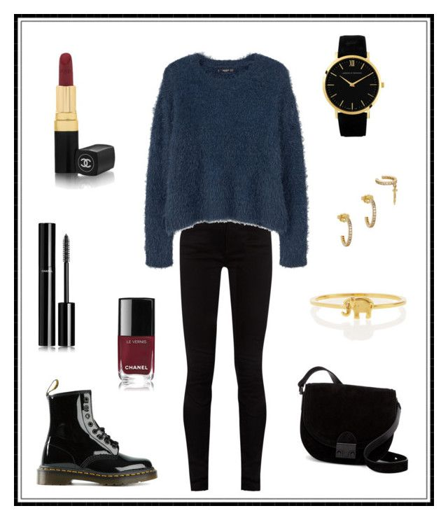 """""""#140"""" by e-elmedal on Polyvore featuring Gucci, MANGO, Dr. Martens, Loeffler Randall, Chanel, Larsson & Jennings, Joanna Laura Constantine and Sydney Evan"""