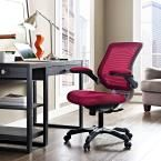 Edge Mesh Office Chair in Burgundy (Red)