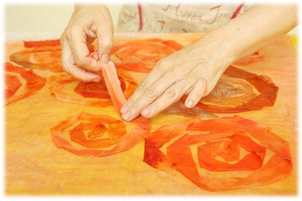 """Работа с шёлковыми лентами. Валяная юбка """"Розовый сад"""" - Ярмарка Мастеров - ручная работа, handmade"""