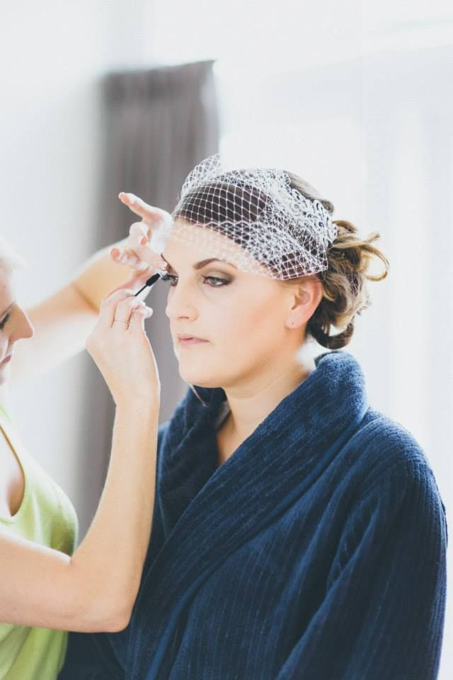 Preparing Michelle for her big day! Makeup by Krystal Hayward www.nzmakeupgirl.co.nz