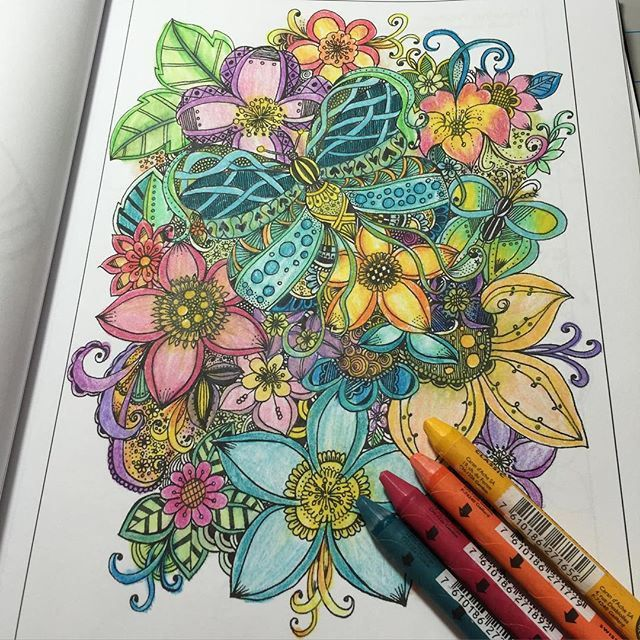 95 Best Images About Adult Coloring Pages Completed Inspiration On Pinterest
