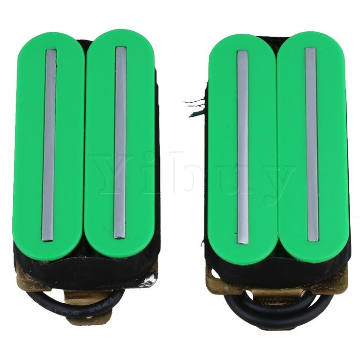 22.06$  Buy here - http://aliux6.shopchina.info/go.php?t=32808661432 - Yibuy Green Plastic Magnets Big Dual Rail Dual Coil Pickups Humbucker Pickup for Electric Guitar Parts 22.06$ #buyininternet